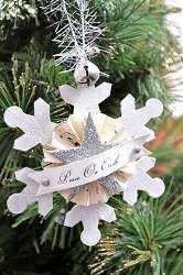 Vintage Winter Ornament Tutorial