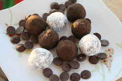 Double Dark Chocolate Cookie Balls