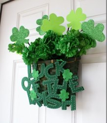 Dollar Store Shamrock Welcome Basket