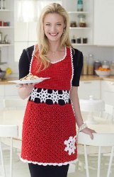Snowflake Hostess Apron Pattern