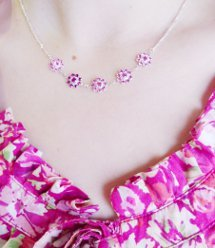 Girly Crystal Flower Necklace