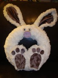 Adorable Fuzzy Bunny Wreath