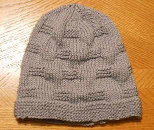 Beginner Knitting Patterns Free : Cobblestone Hat AllFreeKnitting.com