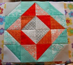 Diamond Half Square Triangle Block