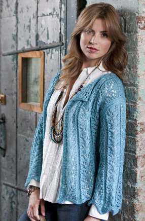 Free Knitting Patterns For Spring Sweaters : Seaside Cardigan AllFreeKnitting.com