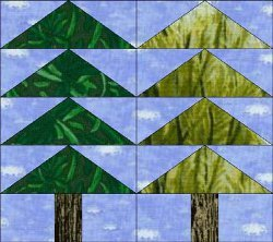 Tall Trees Paper Pieced Block Favequilts Com