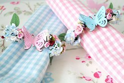 Butterfly Floral Napkin Rings