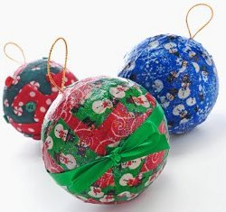 Easy Decoupage Fabric Ornaments
