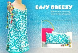 Terry Towel Coverup and Matching Beach Pillow
