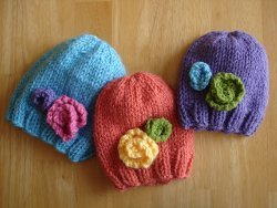 Baby in Bloom Hats