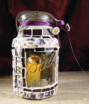 Pansy Ball Jar