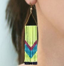 Thrifty Chevron Earrings