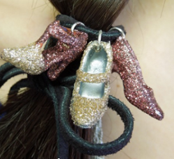 Glittered Shoes Hair Elastic