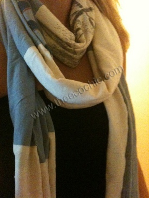 Colorblocked T Shirt Scarf