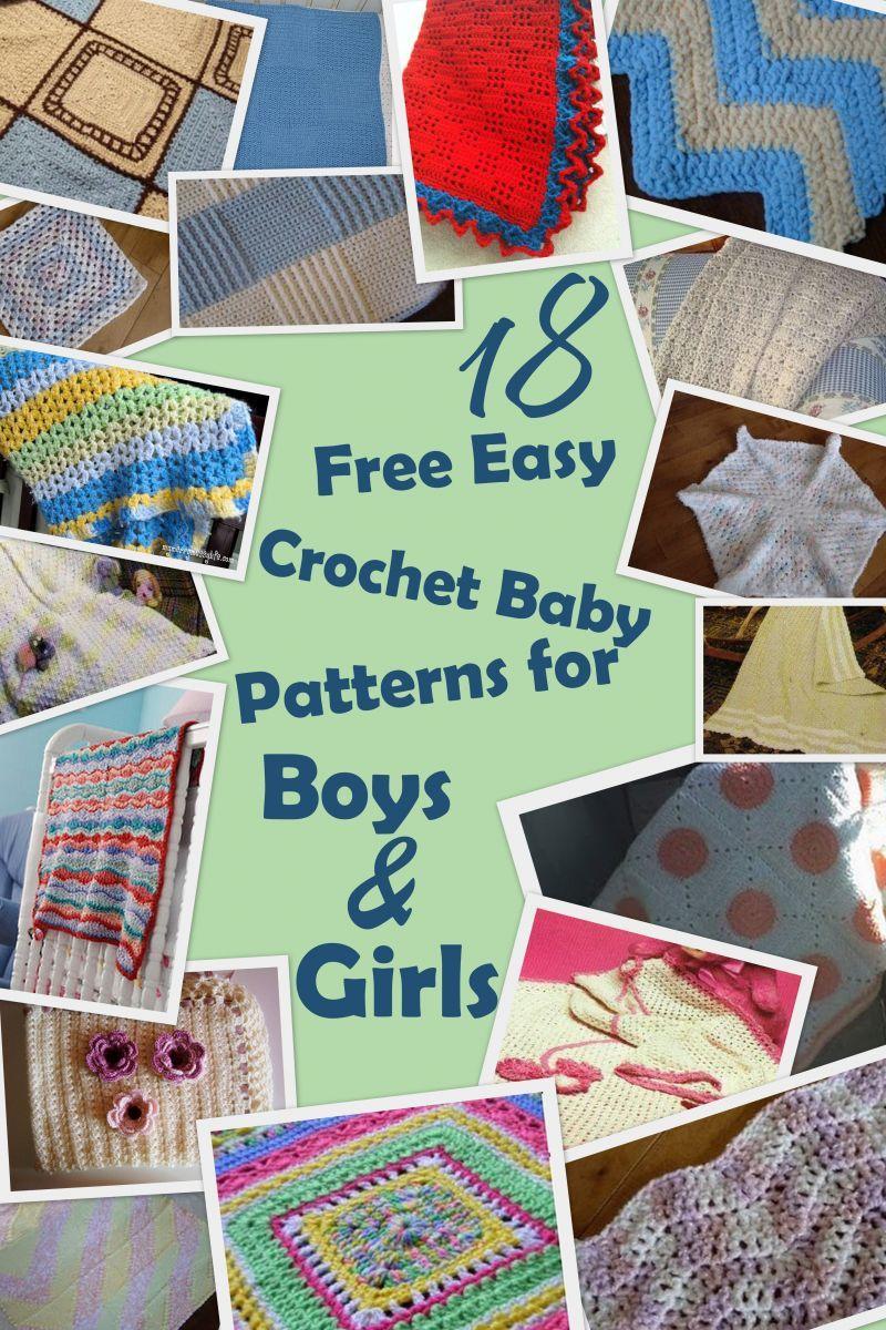 34 Free Easy Crochet Baby Blanket Patterns For Boys