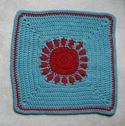 Sunrise Sunset Afghan Square