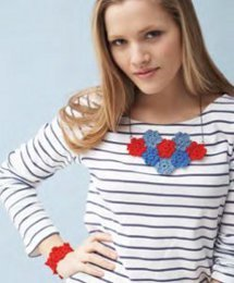 Nautical Poppies Necklace and Bracelet Set