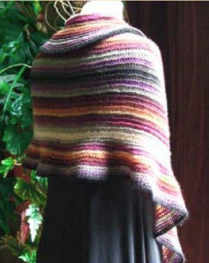 Rainbow Afternoon Shawl