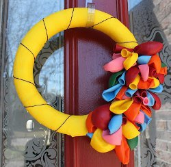 Party Supply Wreath