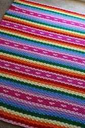 Rainbows and Hearts Blanket