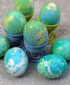 Tie-Dye Earth Day Eggs