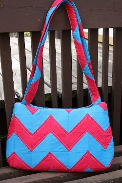 Underwater Stripes Quilted Bag