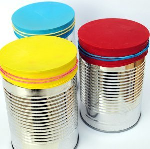 Tin Can Bongo Shakers