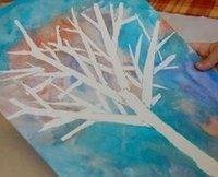Wintry Tree Silhouette