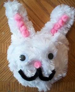 Pipe Cleaner Easter Bunny