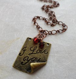 Love Notes Necklace Tutorial