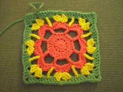 Granny Square Flower Tute