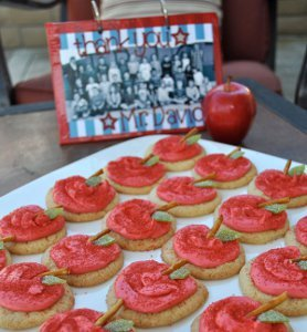 Teacher Appreciation Book and Cookies