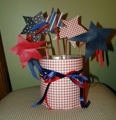 Easy Star Spangled Centerpiece