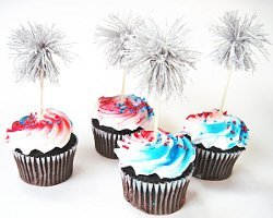 Dazzling Sparkler Cupcake Toppers