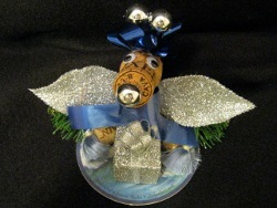Recycled Champagne Cork Bear