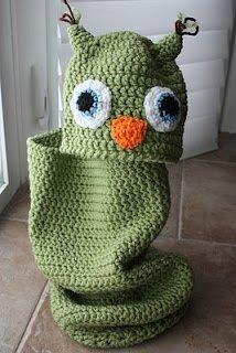 Crochet Snowy Baby Owl | I Heart Gantsilyo | 320x214