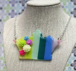 Rainbow Royalty Statement Necklace