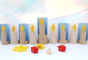 Cardboard Tube Menorah