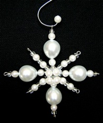 White Pearl Christmas Ornament