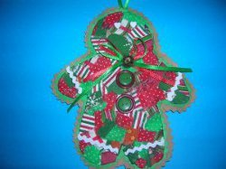Quilted Cookie Ornament