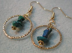 Dangle in a Hoop Beaded Earrings