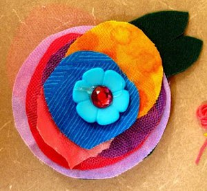 Layered Flower Brooches