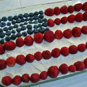 Fourth of July Fruit Flag Cake