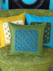 Chunky Granny Square Pillows