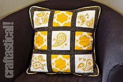 Sunshine Paisley Embroidered Pillow
