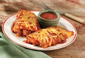 5 Minute Cheesy Chicken Enchilada Grande