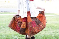 Charm Square Patchwork Skirt