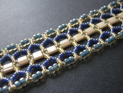 Tila Bead Double Chevron Chain