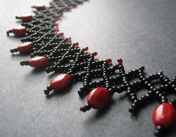 Vertical Seed Bead Netting Stitch