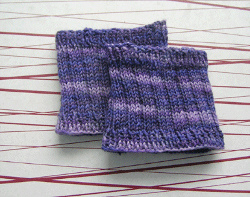 7f817912bfac35 Protect your feet from pesky blisters with these Sandal Socklets. All it  takes is a simple rib stitch to complete this easy knitting pattern.